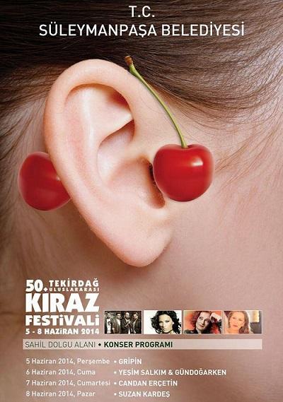 50.Tekirdağ Kiraz Festivali sanatçıları belli oldu
