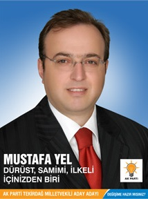 Tekirdağ Büyükşehir Belediyesi Ak Parti Adayı Mustafa Yel